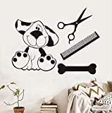 Xbwy 44X33Cm Pets Dog Salon Art Wall Decal Self Adhesive Wall Sticker PVC Removable Wallpaper for Children Bedroom Home Stickers