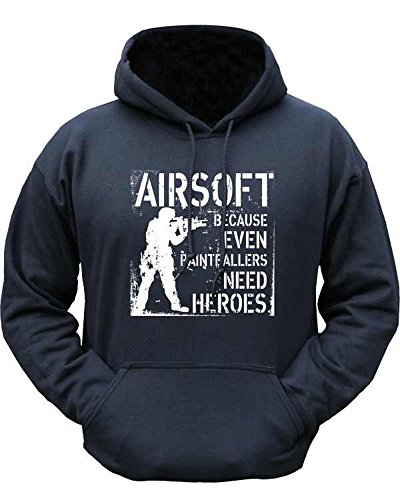 Kombat Hoodie Black Even Paintballers Need Heroes Airsoft