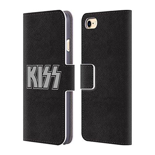 Ufficiale KISS Army Logo Cover a portafoglio in pelle per Apple iPhone 4 / 4S Rosso