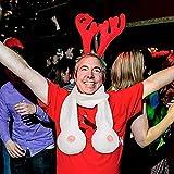 99native Unisex Party Schal-Weihnachten lustiges Geschenk Schal Party Requisiten Prank BH Requisiten (Rose)