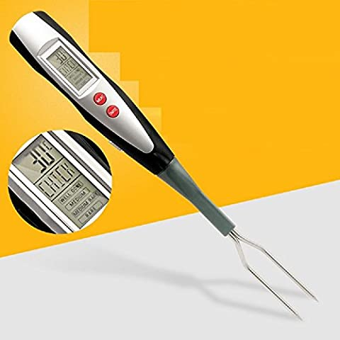 K&C Digital Cooking Thermometer Instant Read LED Kitchen Cooking Meat Thermometer with Long Forks for Barbecue Smoker Grill - Maiale Cotto