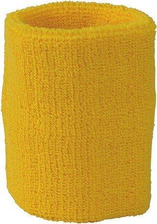 Wristband Schweißband aus weichem Frottee - Farbe: Gold Yellow - Größe: One Size