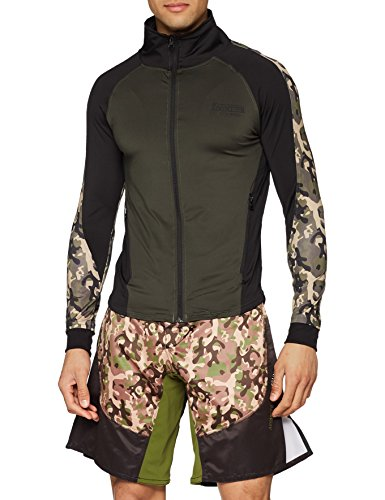 Boxeur des rues serie fight activewear, felpa uomo, verde militare, m