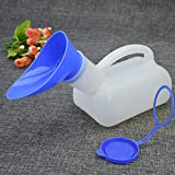 Practical Plastic Unisex Portable Mobile Urinal Toilet Car Journey Travel Male Female Handle Urine Bottle 1000ML