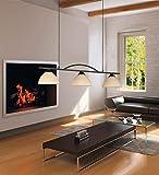 Deckenleuchte Pendelleuchte Rostfarbig antik Glasschirm 3-flammig 68313 Spot Design Lampe Leuchte Beleuchtung Hängelampe