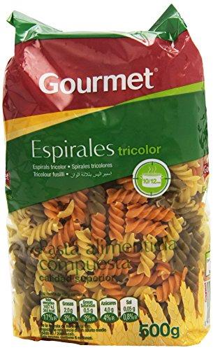 Gourmet Espirales Tricolor Pasta Alimenticia