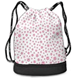 MLNHY Pattern with Large Small Baby Pink Color Basketball Drawstring Bag Backpack Bundle Backpack