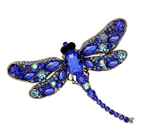 Da.Wa Vintage Style Strass Kristall Libelle Brosche Pin Tier Brosche Pins Schmuck
