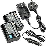 DSTE® 2x EN-EL15 Rechargeable Li-ion Battery + DC113U Travel and Car Charger Adapter for Nikon 1 V1 D600 D610 D750 D800 D800E D810A D7000 D7100 D7200 Camera as Nikon ENEL15