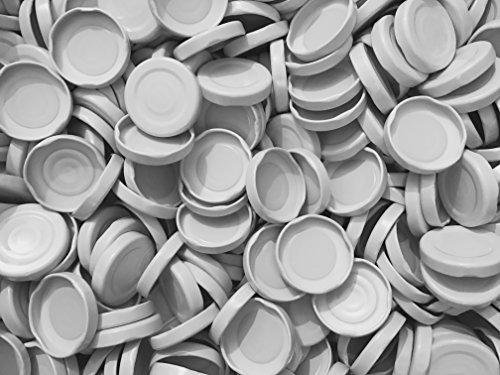 slkfactory 15, 25, 50 oder 75St. Twist-Off-Deckel TO43 mm Verschluss weiß für Glasflaschen Milchflaschen Saftflaschen Deckel für unsere 0.2/0.25Liter