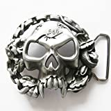Boucle ceinture pour lanière universelle Tête de mort 666