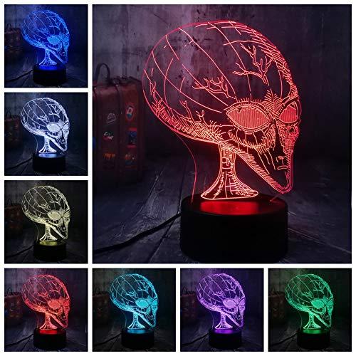 (Neuheit Film Cosmic Space Alien ET 3D LED Nachtlicht USB Tischlampe Wohnkultur Kind Kind Spielzeug Halloween Weihnachtsgeschenk)