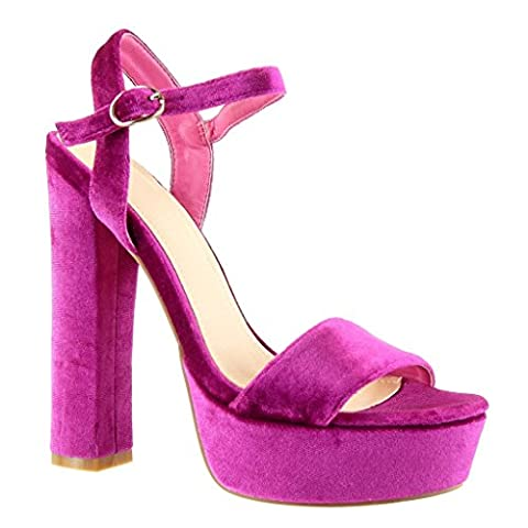 Chaussure Fuschia Femme - Angkorly - Chaussure Mode Sandale Escarpin plateforme