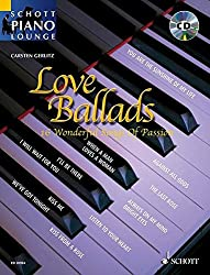 Love Ballads: 16 Wonderful Songs Of Passion. Klavier. Ausgabe mit CD. (Schott Piano Lounge)
