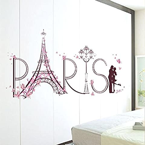 OverDose Home Decor Art Decal PVC Paris Wall Sticker
