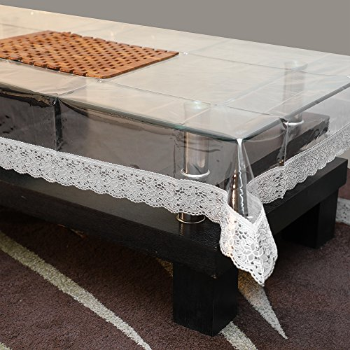 0be2f0d47 STITCHNEST Dining Table Cover Transparent 10 Seater