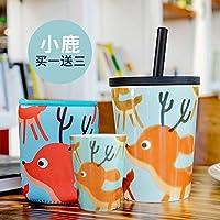 Syhao innovativi ad alta capacità tazze di ceramica ufficio con tubo coperchio bicchiere tazza da caffè latte Cup di Marco , tazze Sorok (coppa di alimentazione Kit tubo nero)
