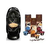 Tchibo Cafissimo Pure Kapselmaschine (für Kaffee, Espresso, Caffé Crema und Tee) (inkl. 30 Kapseln, Schwarz)