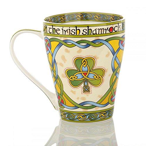 Eburya The Irish Shamrock Mug - Kaffeebecher aus Keramik mit irischem Kleeblatt