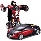 Tec Tavakkal Latest Power Battery Operated Converting Car to Robot, Robot to Car with Light and Sound for Kids Robot Car…