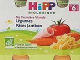 HiPP Biolologique Ma Première Viande Légumes Pâtes Jambon / Carottes Pommes de...