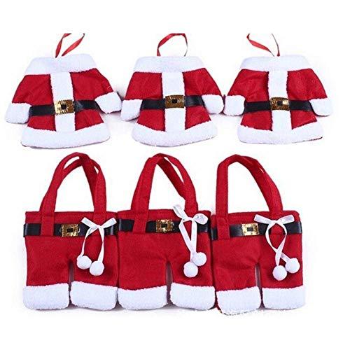 Nicedeal Arts de la Table de Noël Couverture créatif Table Non-tissé vêtements en Tissu et Pantalons Couverts Sacs Fournitures de Noël pour Couteaux et fourchettes Outil de Cuisine, Pratiqu