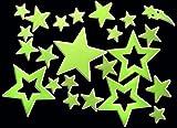 Glow in the dark! Leuchtsterne, leuchtende Sterne, 46 Stück! Fluoreszierend! Stars, Sternenhimmel!