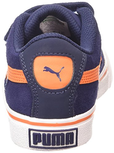 Puma - Puma S Evolution V Kids, Sneakers infantile Blu (peacoat-vermillion orange 13)
