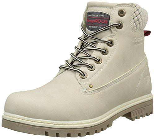 KangaROOS Damen Boots Riveter W Iii Desert, Off White, 42 EU, 67015#071799H -