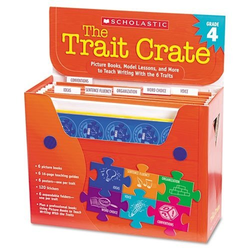 scholastic-trait-crate-grade-4-seven-books-posters-folders-transparencies-stickers-by-scholastic