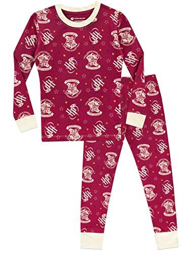 51VeATwShIL - Harry Potter Pijama para Niñas Hogwarts Ajuste Ceñido Multicolor 12-13 Años
