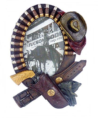 -Marco 3D Holster Tinta Correa Colt Sombrero de Cowboy Western Decoración