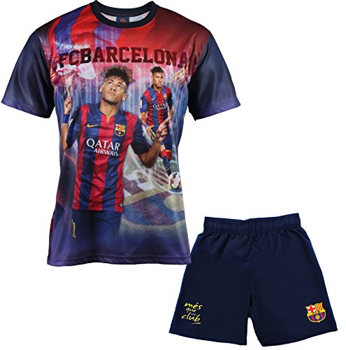 Fc Barcelone Ensemble Maillot + short Barça - NEYMAR Junior - Collection officielle Taille enfant garçon