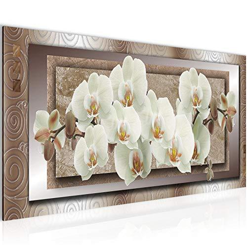 Tableau decoration murale Fleurs d'orchidée 100 x 40 cm XXL Impression sur Toile Salon Appartment 1 parties - prêt à accrocher 205412c