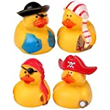 S/O 12er Pack Gummiente Pirat 5,5cm Quietscheente Badeente Piraten Ente Bade Quietsche (0402)