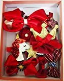 Cuty Kraft 11 pcs hair clip gift set for young girls/toddlers - wine