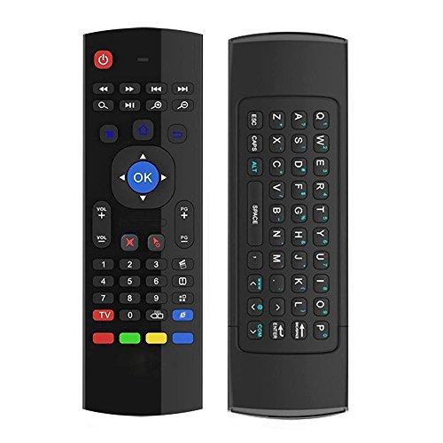 Horizontale Luft (Horizontal MX3Doppelseitige Fernbedienung für TV-Box, 2,4GHz, mit Mini-Tastatur (deutsches Layout nicht garantiert))