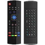 HORIZONTAL MX3 2.4G portátil Mini inalámbrico de doble cara teclado de control remoto y ratón de aire para TV Box