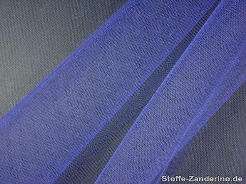 Feinmaschiger Tüll, Nylon, blau, ca. (Kostüme Stoffe Home)