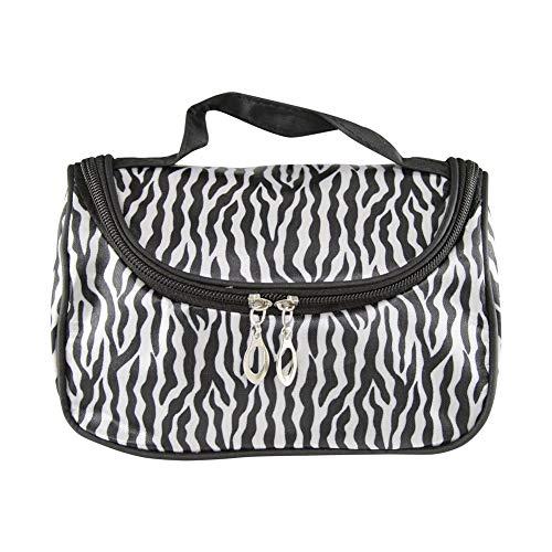 Multi Usage Zebra-Streifen-Handtasche wasserdicht kosmetische Reisetasche im Freien Make-up Organizer für Frauen Multi Zebra