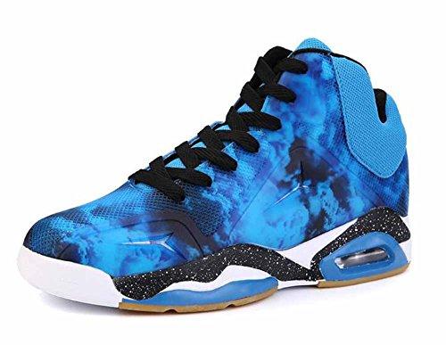 Männer Breathable Basketball Schuhe 2017 Herbst New Shock Mode Jugend Outdoor Sport Schuhe ( Color : Blue , Size : 41 )