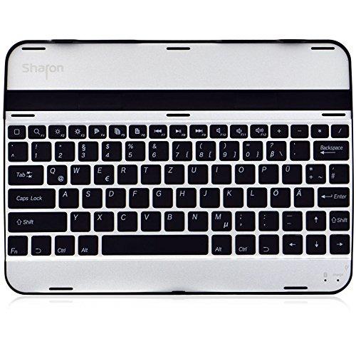 Sharon Samsung Galaxy Tab 3 10.1 Alu Case mit integrierter Bluetooth Tastatur (deutsches Layout), Tastatur Case für Galaxy Tab 3 GT-P5200 GT-P5210 GT-P5220