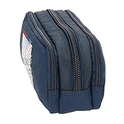51VeG1Pm1WL. SS416  - Pepe Jeans Scarf Neceser de Viaje, 22 cm, 1.98 Litros, Azul