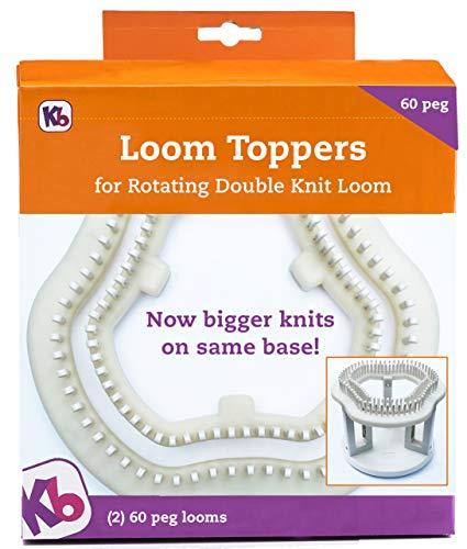 Authentic Knitting Board KB8360 60 Klammern Loom Topper mit Drehfunktion, plastik, Use with Rotating -
