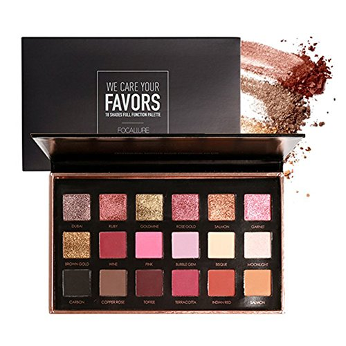 OYOTRIC 18 Colors Shimmer Matte Mineral Pigment Eyeshadow Palette Nude Beauty Makeup A01