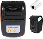 Mini Wireless Thermal Printer with Carry Case MUNBYN Bluetooth 58mm Portable USB Receipt Ticket Printer POS Compatible with A