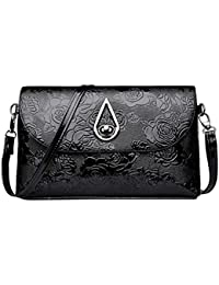 0f439d65389a SANFASHION Mode Frauen Blumenmuster Leder Umhängetasche Messenger Bag  Umhängetasche