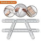 Angleizer Vorlage Werkzeug, WOWGO Werkzeug Lineal Edelstahl Messgerät für Handymen Bauherren Handwerker