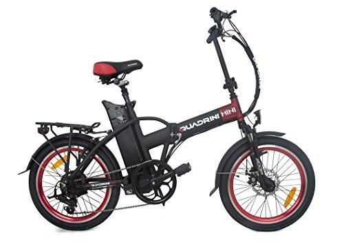 Elektro-Fahrräder QUADRINI, Klapp Elektro-Fahrräder, modell MINIMAX,Shimano, Batterie Lithium-Ionen-36V10Ah (360Wh), Hintere Nabe Brushless-Motor 36V 250W.