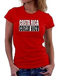 Teeburon Costa Rica Negative Camiseta Mujer
